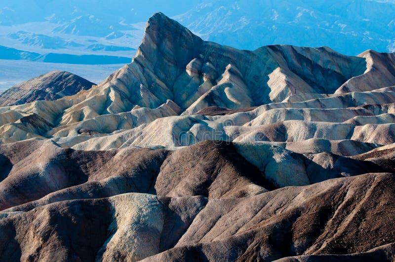 Zabriske Punkt, Death- ValleyNationalpark stockfoto