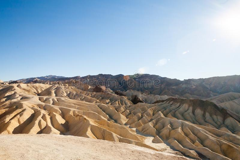 Zabriskie Point in Death Valley, California royalty free stock photography