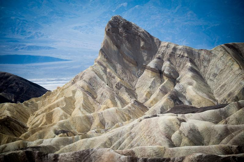 Zabriskie Point, Death Valley National Park, California. Environment, badlands. royalty free stock photography