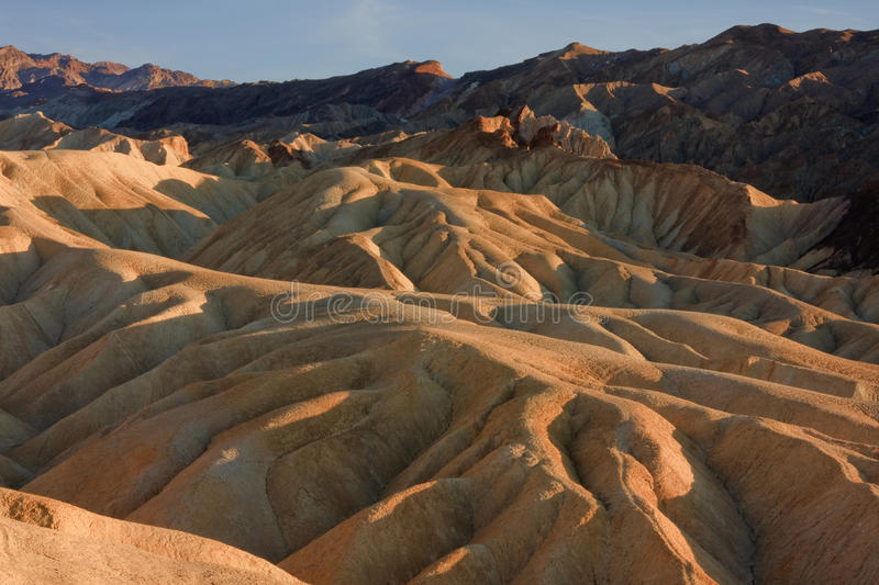 Zabriskie Point, Death Valley, USA royalty free stock images