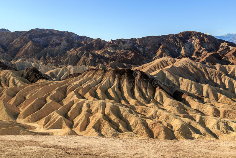 Zabriskie Point Death Valley royalty free stock photo