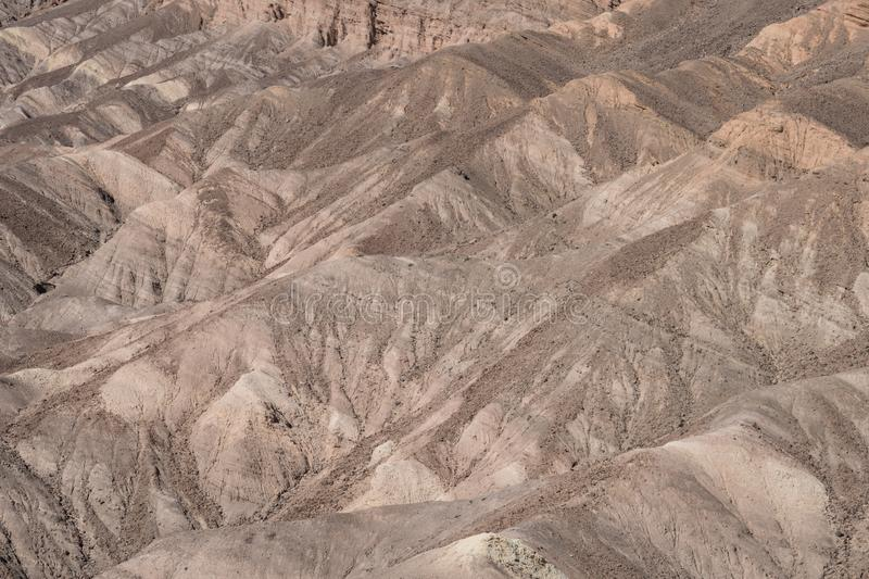 Zabriskie-Punkt übersehen in Nationalpark Death Valley in Kalifornien lizenzfreie stockfotografie