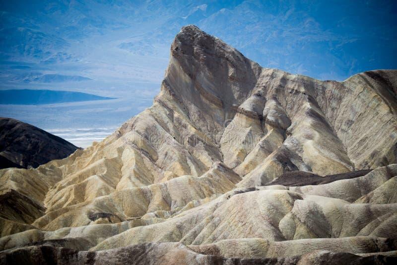 Zabriskie punkt, Śmiertelny Dolinny park narodowy, Kalifornia Środowisko, badlands fotografia royalty free