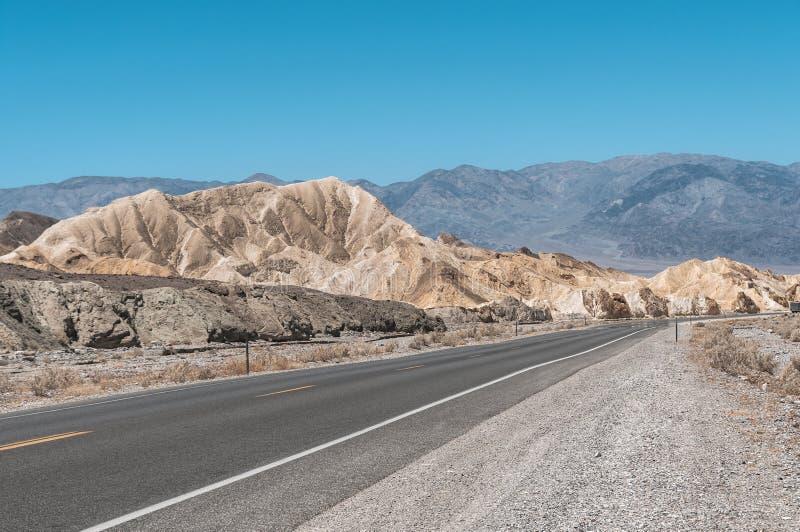 Zabriskie punkt, Śmiertelny Dolinny park narodowy, Kalifornia obraz stock