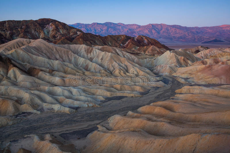 Zabriskie-Punkt bei Sonnenaufgang, Nationalpark Death Valley, Californ lizenzfreies stockbild