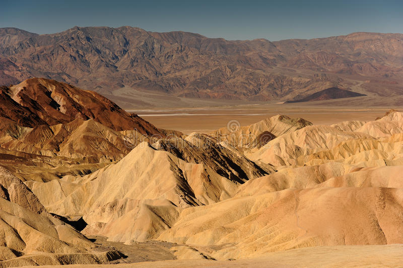 Zabriskie-Punkt, Death Valley Kalifornien stockbild