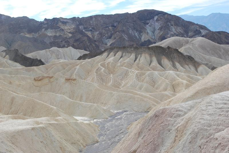 Zabriskie punkt, Death Valley, Kalifornien. royaltyfri foto
