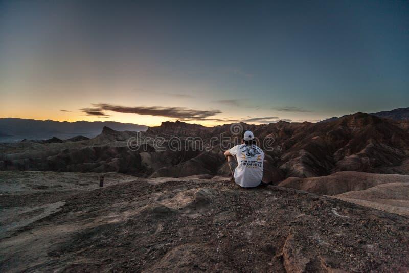 Zabriskie punkt, Death Valley, Kalifornien, USA arkivfoton
