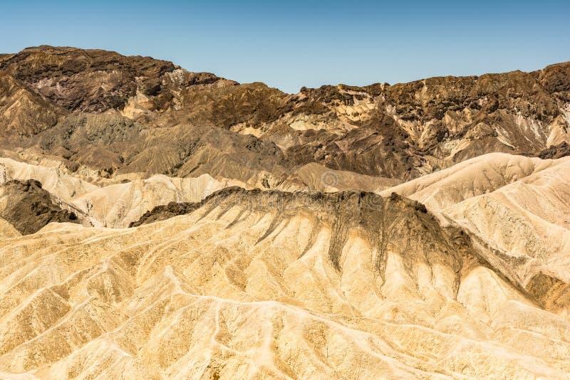 Zabriskie punkt i den Death Valley nationalparken, Kalifornien arkivfoto
