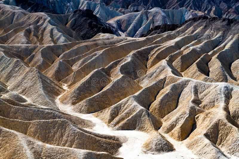Zabriskie-Punkt im Nationalpark Death Valley, Kalifornien, USA stockbild