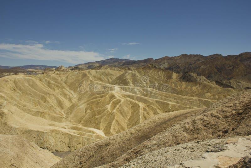 Zabriskie-Punkt, Kalifornien stockfotos