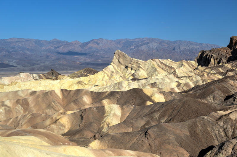 Zabriskie-Punkt in Nationalpark Death Valley, Kalifornien lizenzfreies stockfoto