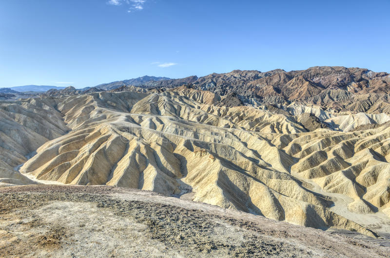 Zabriskie-Punkt in Nationalpark Death Valley, Kalifornien stockfotos