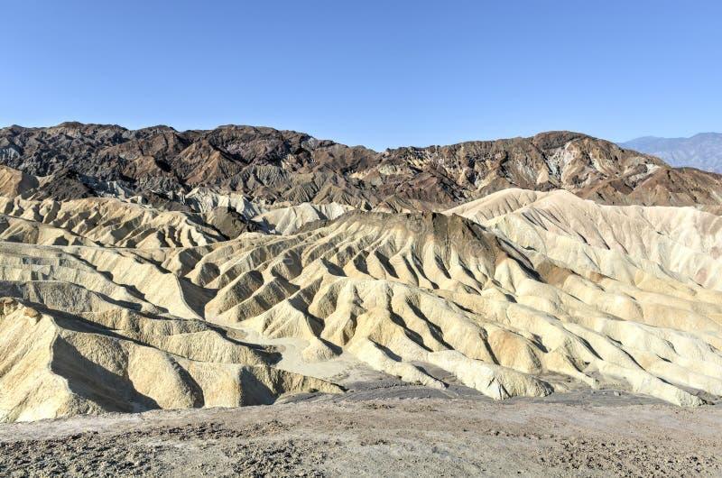 Zabriskie-Punkt in Nationalpark Death Valley, Kalifornien lizenzfreie stockbilder