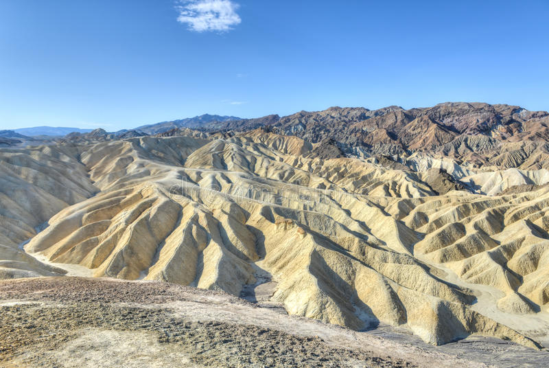 Zabriskie-Punkt in Nationalpark Death Valley, Kalifornien stockfotografie