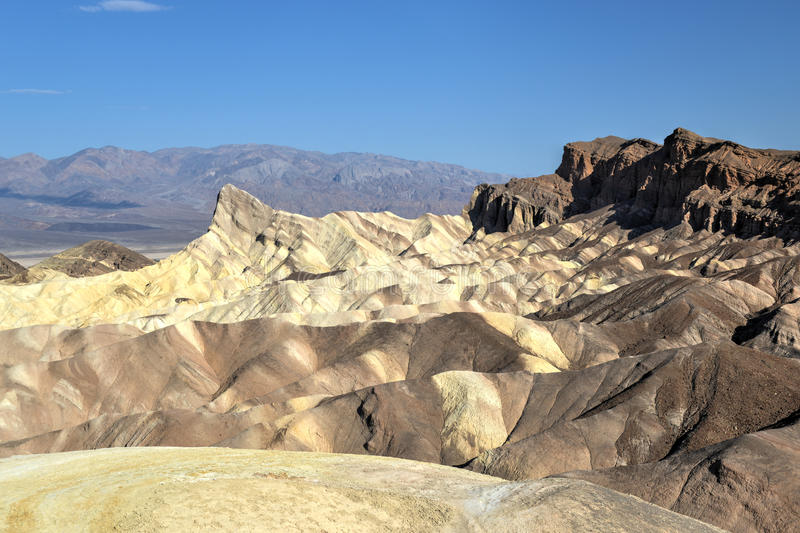 Zabriskie-Punkt in Nationalpark Death Valley, Kalifornien lizenzfreies stockbild
