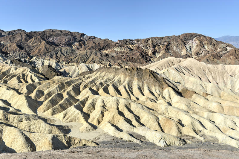 Zabriskie-Punkt in Nationalpark Death Valley, Kalifornien stockfoto