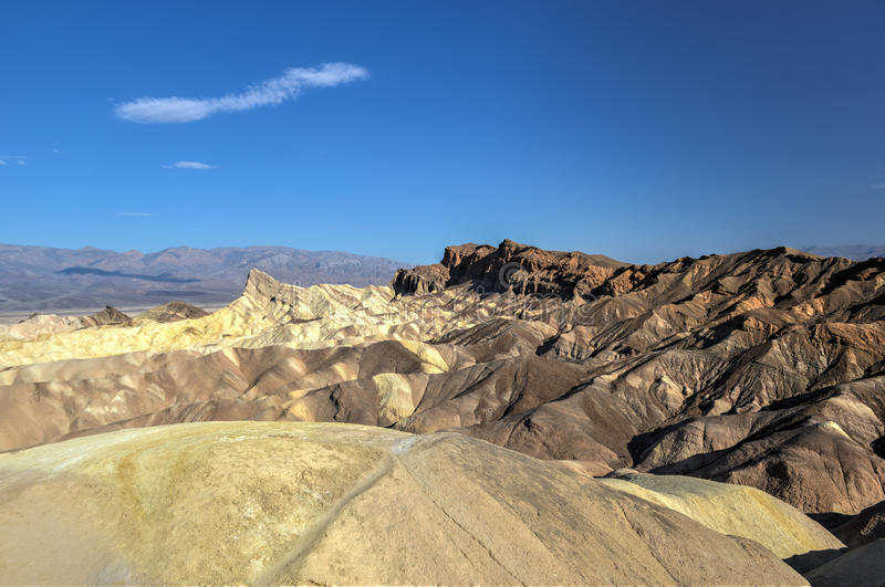 Zabriskie-Punkt in Nationalpark Death Valley, Kalifornien stockbild