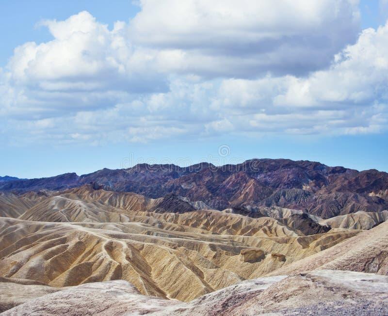 Zabriskie-Punkt in Nationalpark Death Valley, Kalifornien stockfoto