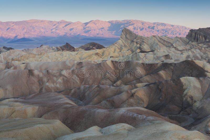 Zabriskie-Punkt in Nationalpark Death Valley in Kalifornien, Vereinigte Staaten stockfotos