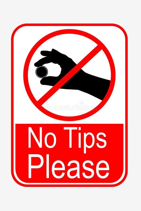 Zabroniony znak, żadny porady zadawala royalty ilustracja