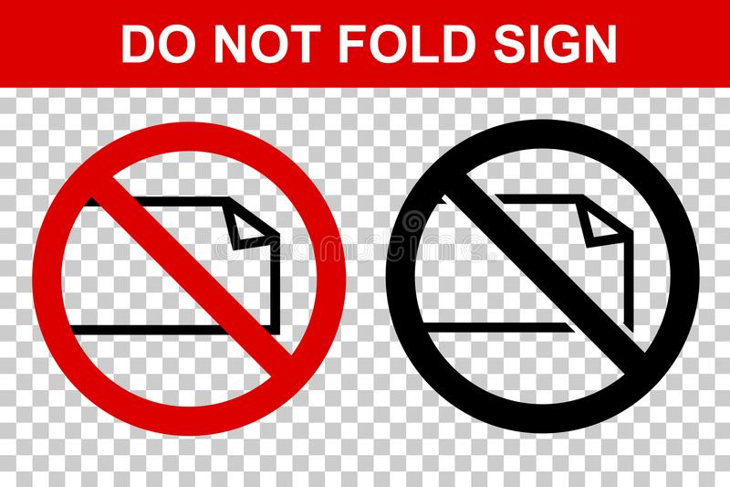 Zabroniony znak, no Składa, przy Przejrzystym skutka tłem ilustracji