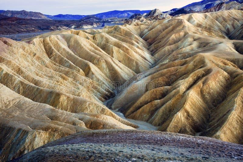 Zabruski Point Death Valley National Park. Zabriski Point Mudstones form Badlands Death Valley National Park California royalty free stock photography