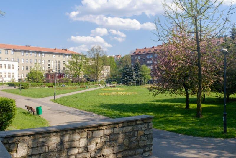 Zabrze en Polonia/plaza fotografía de archivo libre de regalías