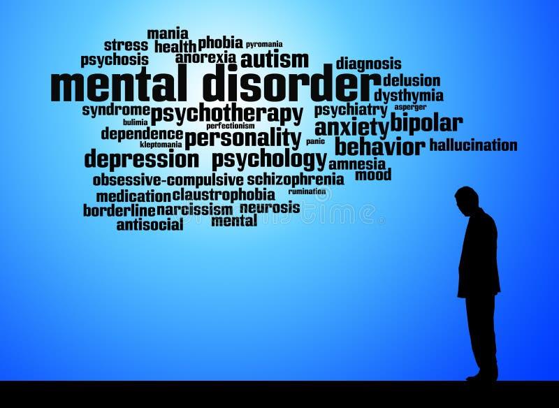 Zaburzenia psychiczne ilustracja wektor