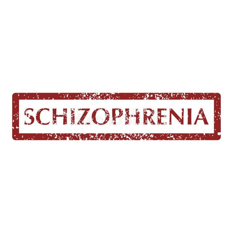 Zaburzenia psychiczne schizofreni znaczki ilustracji