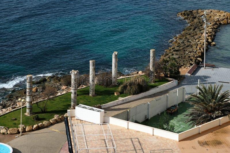 Zabytek Śródziemnomorskie kultury w Torrevieja mieście costar fotografia stock