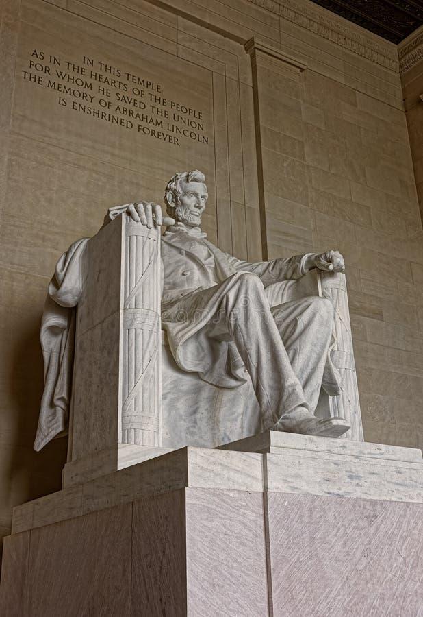Zabytek Abraham Lincoln w washington dc Stany Zjednoczone obrazy stock