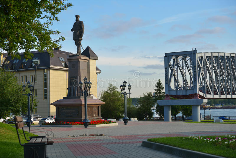 Zabytek Aleksander III w Novosibirsk, Rosja fotografia royalty free