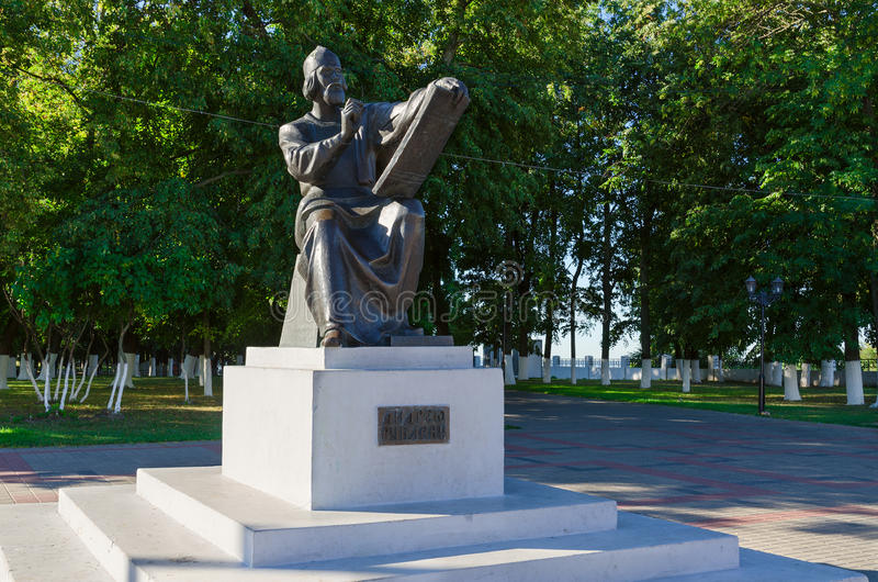 Zabytek Andrei Rublev, Vladimir, Rosja fotografia stock