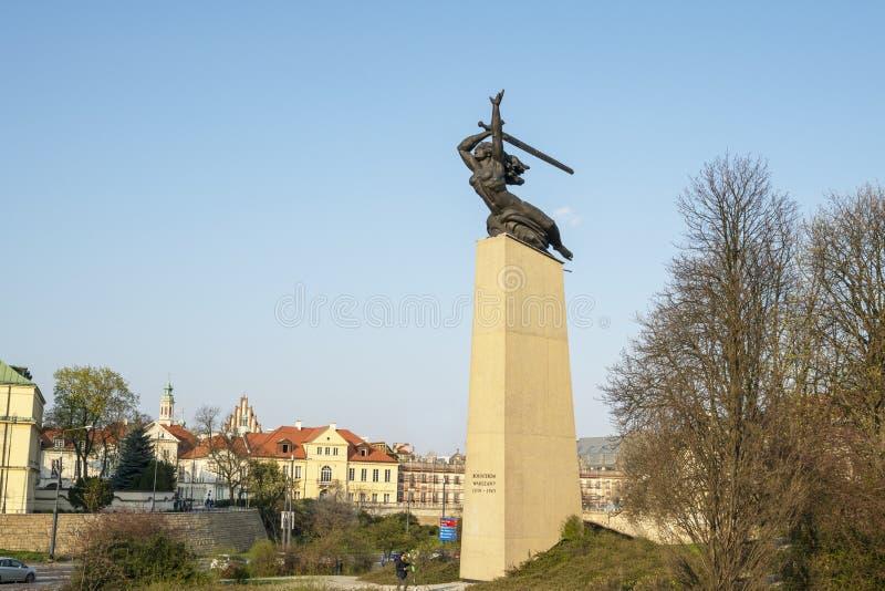 Zabytek bohaterzy w Warszawa fotografia royalty free