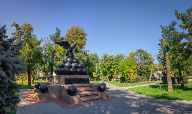 Zabytek brygadzista Gorich w Ochakov mieście, Ukraina fotografia stock