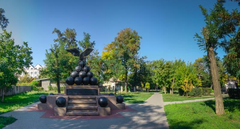 Zabytek brygadzista Gorich w Ochakov mieście, Ukraina obraz stock