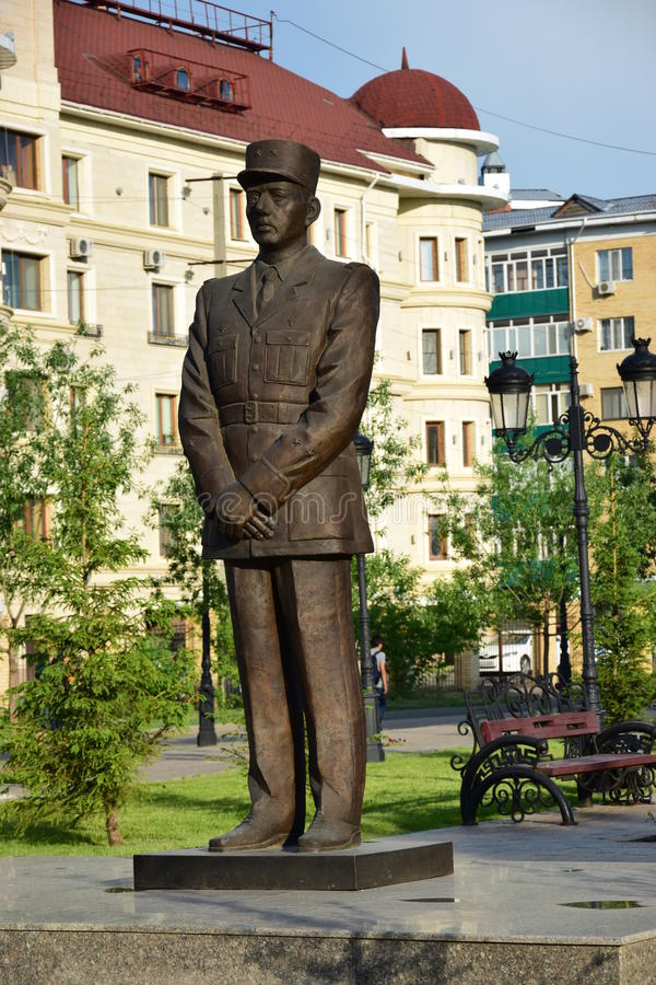 Zabytek Charles De Gaulle w Astana fotografia royalty free