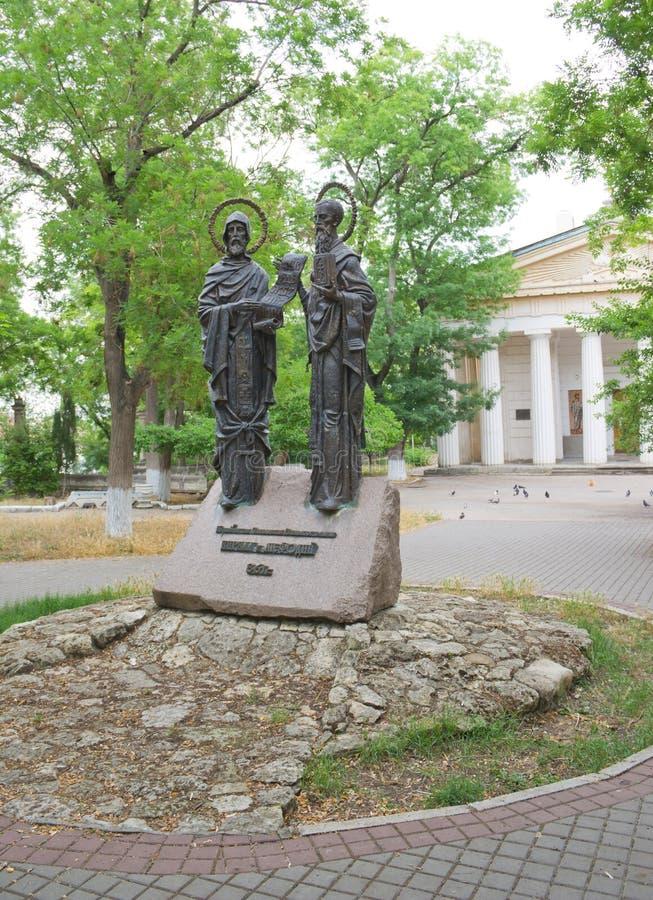 Zabytek Cyril i Methodius, Sevastopol obraz royalty free