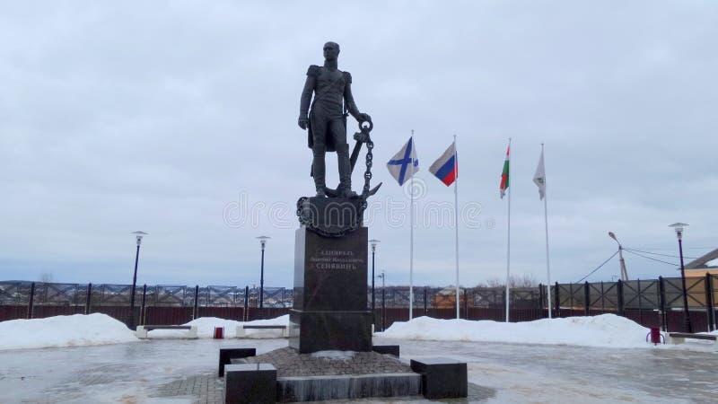 Zabytek Dmitry Senyavin w Borovsk fotografia stock