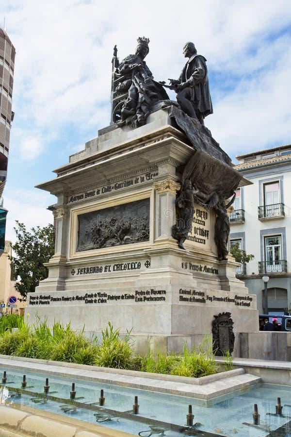 Zabytek Ferdinand i Isabella w placu Isabel losie angeles Catol obrazy stock