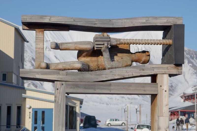 Zabytek górnik Showplace w Longyearbyen, Spitsbergen (Svalb fotografia stock