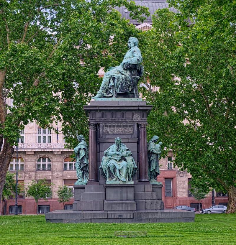 Zabytek Istvan Szechenyi w Budapest, Węgry obraz stock