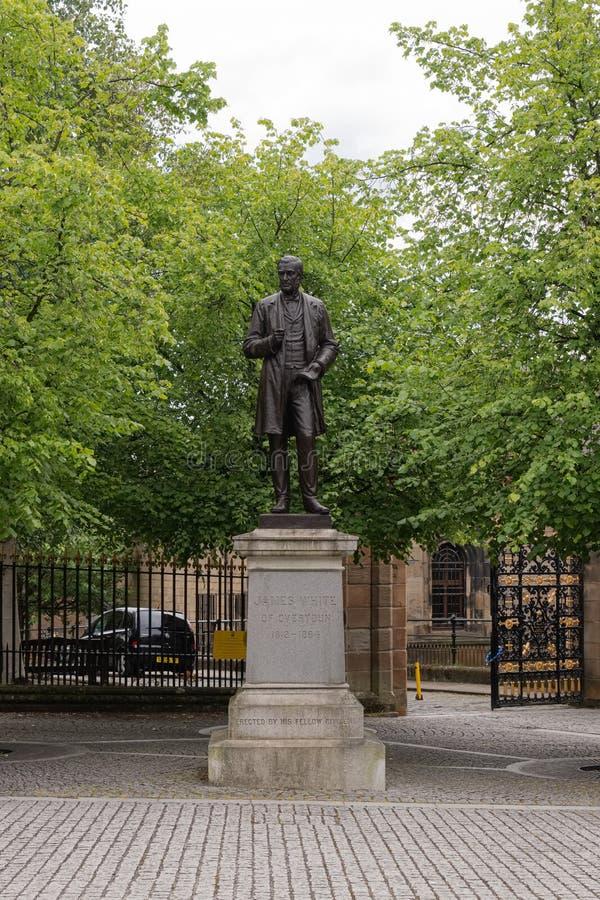 Zabytek James biel Overtoun Katedralna dzielnica, Glasgow który był wytwórcą i znać mieszkanem dobrze prawnika i substancji chemi zdjęcia royalty free