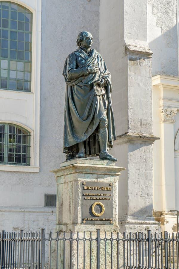 Zabytek Johann Gottfried Herder obrazy royalty free