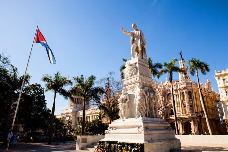 Zabytek Jose Marti w central park, Hawański, Kuba zdjęcia stock