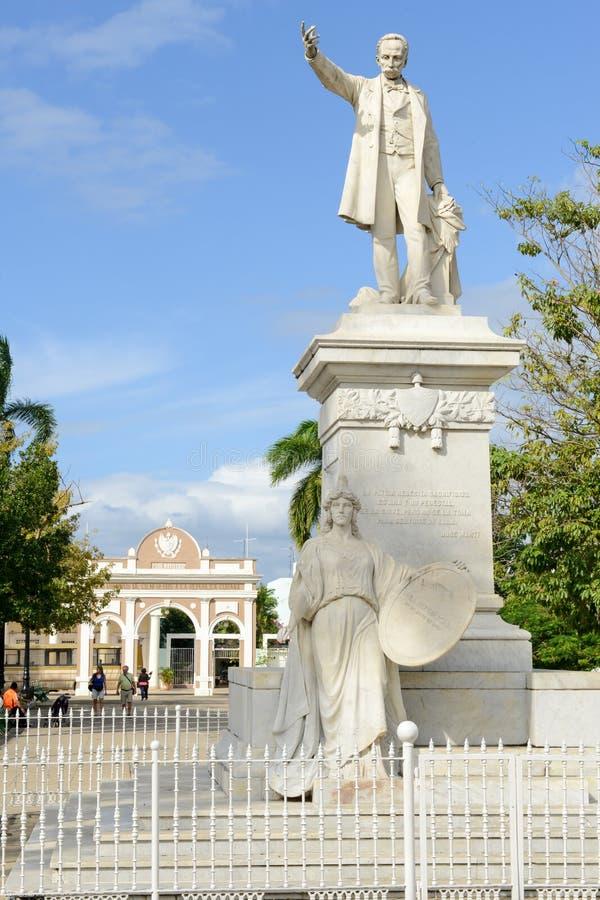 Zabytek Jose Marti w Cienfuegos, Kuba zdjęcia stock