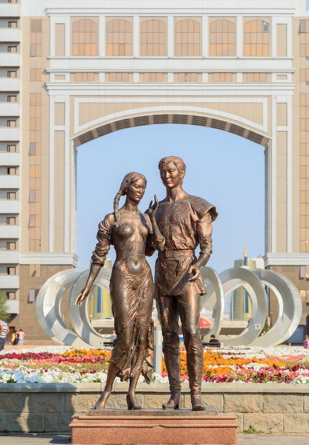 Zabytek kochać astana Kazakhstan zdjęcie royalty free