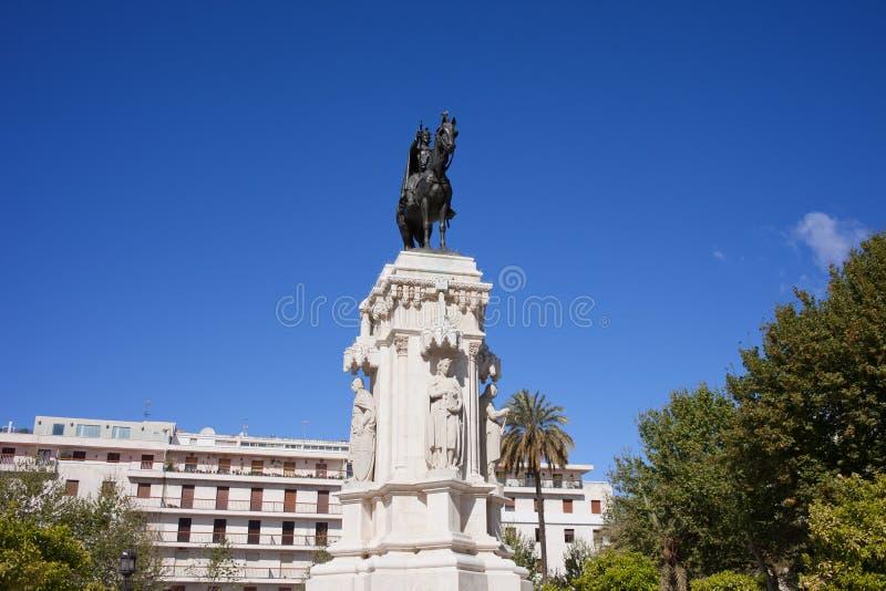 Zabytek królewiątko Świątobliwy Ferdinand w Seville obraz royalty free