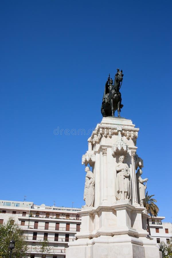 Zabytek królewiątko Świątobliwy Ferdinand w Seville zdjęcia stock